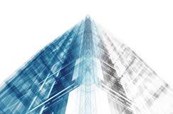 Proyecto del concepto de la arquitectura representación 3d Fotografía de archivo libre de regalías