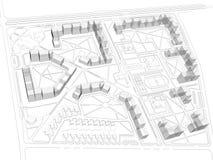 Proyecto del districto ilustración del vector