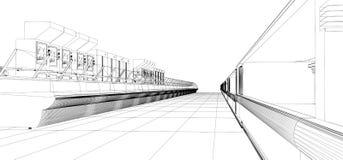 Proyecto del supermercado stock de ilustración