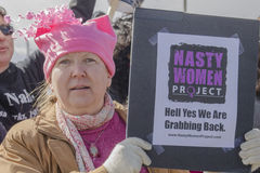 Proyecto desagradable de las mujeres Fotografía de archivo