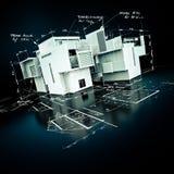 Proyecto lujoso de la arquitectura ilustración del vector