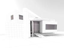 Proyecto moderno de la arquitectura del desván libre illustration