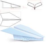 Proyecto plano de papel Foto de archivo libre de regalías