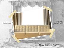 Proyecto restyling de la casa libre illustration