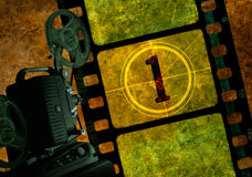 Proyector de película del número uno ilustración del vector