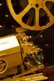 Proyector del color del oro de la antigüedad con la película Fotografía de archivo