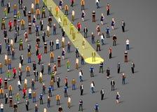Proyector del hombre de negocios Recurso humano y reclutamiento Hombres de negocios del concepto del alquiler ilustración del vector
