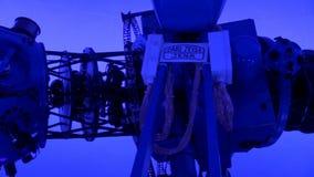 Proyector del planetario, astronomía, ciencia almacen de metraje de vídeo