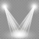Proyector del vector, efecto luminoso Fotografía de archivo libre de regalías