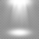 Proyector del vector, efecto luminoso Imagen de archivo libre de regalías