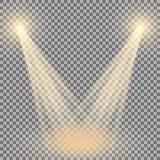 Proyector del vector, efecto luminoso Imagen de archivo