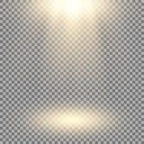 Proyector del vector, efecto luminoso Foto de archivo