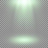 Proyector del vector, efecto luminoso Foto de archivo libre de regalías