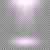 Proyector del vector, efecto luminoso Imagenes de archivo