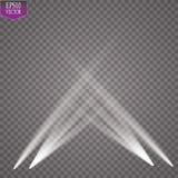 Proyector del vector Efecto luminoso Imagen de archivo libre de regalías