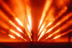 Proyector en humo imágenes de archivo libres de regalías