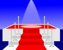 Proyector en una etapa de la alfombra roja Foto de archivo libre de regalías