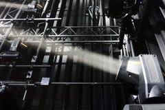 Proyector Rayo de la luz imagen de archivo