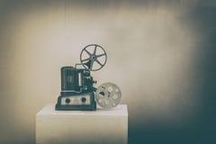 Proyector viejo del cine foto de archivo