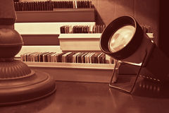 Proyector y diapositivas de diapositiva Fotografía de archivo