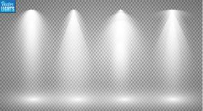 Proyectores del vector escena Efectos luminosos Fotos de archivo libres de regalías