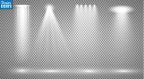Proyectores del vector escena Efectos luminosos Fotografía de archivo