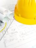 Proyectos de edificio con el gráfico del arquitecto fotos de archivo
