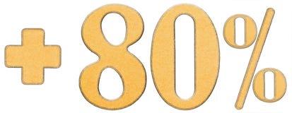 Prozent fördert, plus 80 achtzig Prozent, die Ziffern, die auf w lokalisiert werden Stockbilder