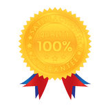 100 Prozent Garantie-Zufriedenheits-Qualität Stockfoto