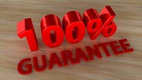 100 Prozent Garantie Lizenzfreies Stockbild