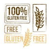 100 Prozent geben Gluten frei Stockbild