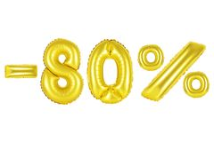 80 Prozent, Goldfarbe Lizenzfreies Stockfoto