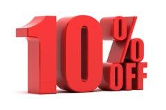 10 Prozent heruntergesetzt Förderung Lizenzfreie Stockbilder