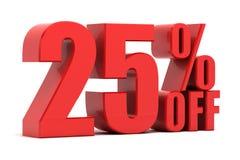 25 Prozent heruntergesetzt Förderung Stockfotos