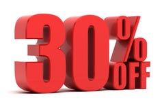 30 Prozent heruntergesetzt Förderung Stockbilder