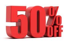 50 Prozent heruntergesetzt Förderung Stockfotografie