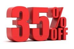 35 Prozent heruntergesetzt Förderung Lizenzfreies Stockbild