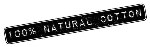100-Prozent-natürlicher Baumwollstempel Stockfotos