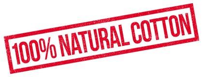 100-Prozent-natürlicher Baumwollstempel Stockbild