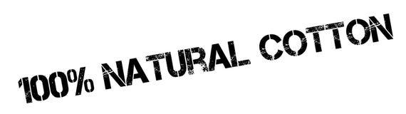 100-Prozent-natürlicher Baumwollstempel Lizenzfreies Stockbild
