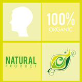 100 Prozent organisch Stockbild