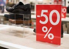 50-Prozent-Rabatt Lizenzfreie Stockbilder