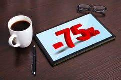 75-Prozent-Rabatt Lizenzfreie Stockfotos