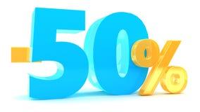 50-Prozent-Rabatt Lizenzfreie Stockfotos