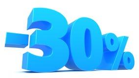 30-Prozent-Rabatt Stockfoto