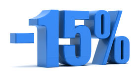 15-Prozent-Rabatt Stockfotografie