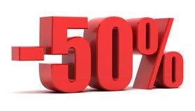 50-Prozent-Rabatt Stockfotografie
