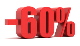 60-Prozent-Rabatt Stockfotografie