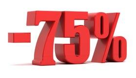 75-Prozent-Rabatt Lizenzfreies Stockfoto