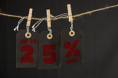 25-Prozent-Rabattaufkleber Lizenzfreies Stockbild